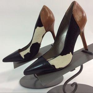 "Sam Edelman Heels Dyed Cow Fur 5.5M 4"" Heels"